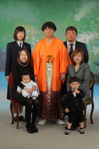 成人後撮り(紋服)ご家族写真